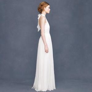 J CREW silk chiffon Adelaide gown